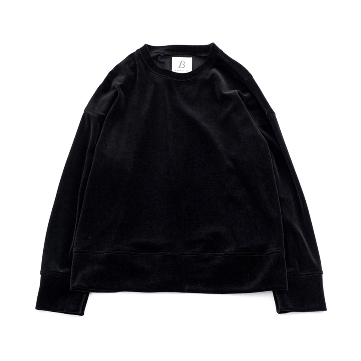 [BROWNYARD ZERO] ZERO WIDE VELOR PULLOVER 'BLACK'