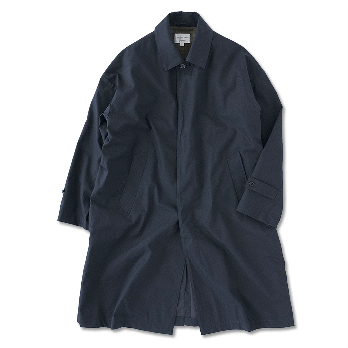 [STILL BY HAND] CO0293OS - OVERSIZED BAL COLLAR COAT 'NAVY'