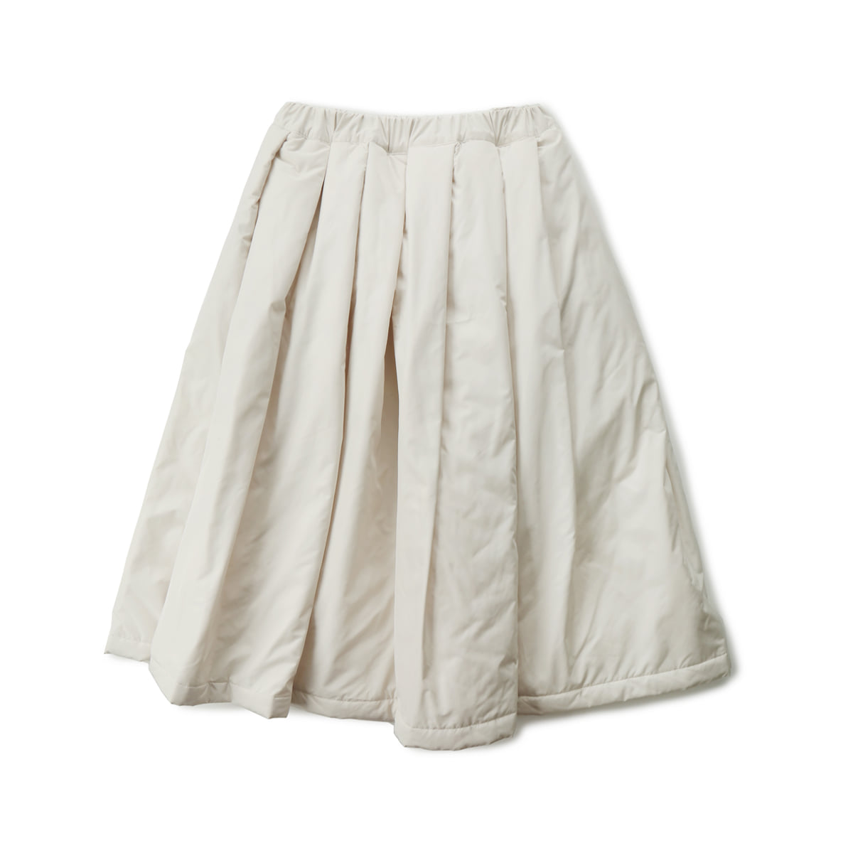 [MUSED] LAYLA A-LINE SKIRT 'IVORY QUILTING'