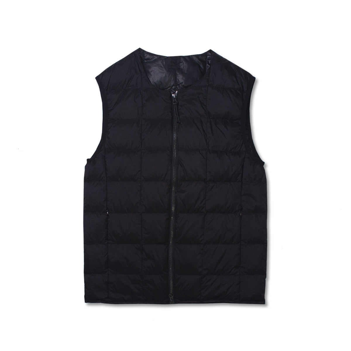 [TAION]  CREW NECK W ZIP DOWN VEST (TAI0N-005) 'BLACK'