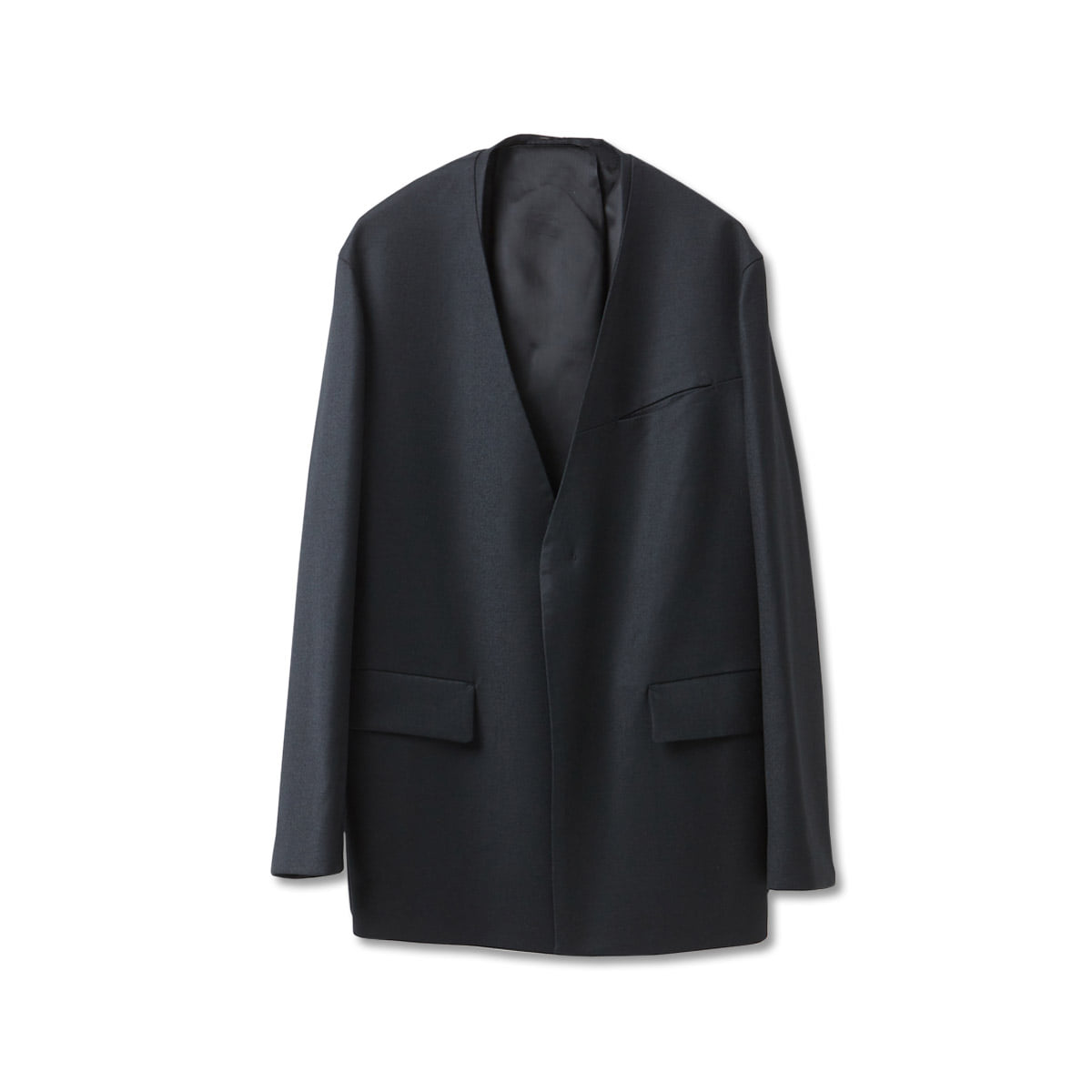 [YOUTH] COLLARLESS JACKET 'BLACK'