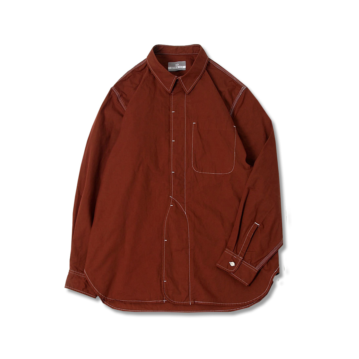 [BEHEAVYER] 1 1/2 SHIRT 'BROWN'