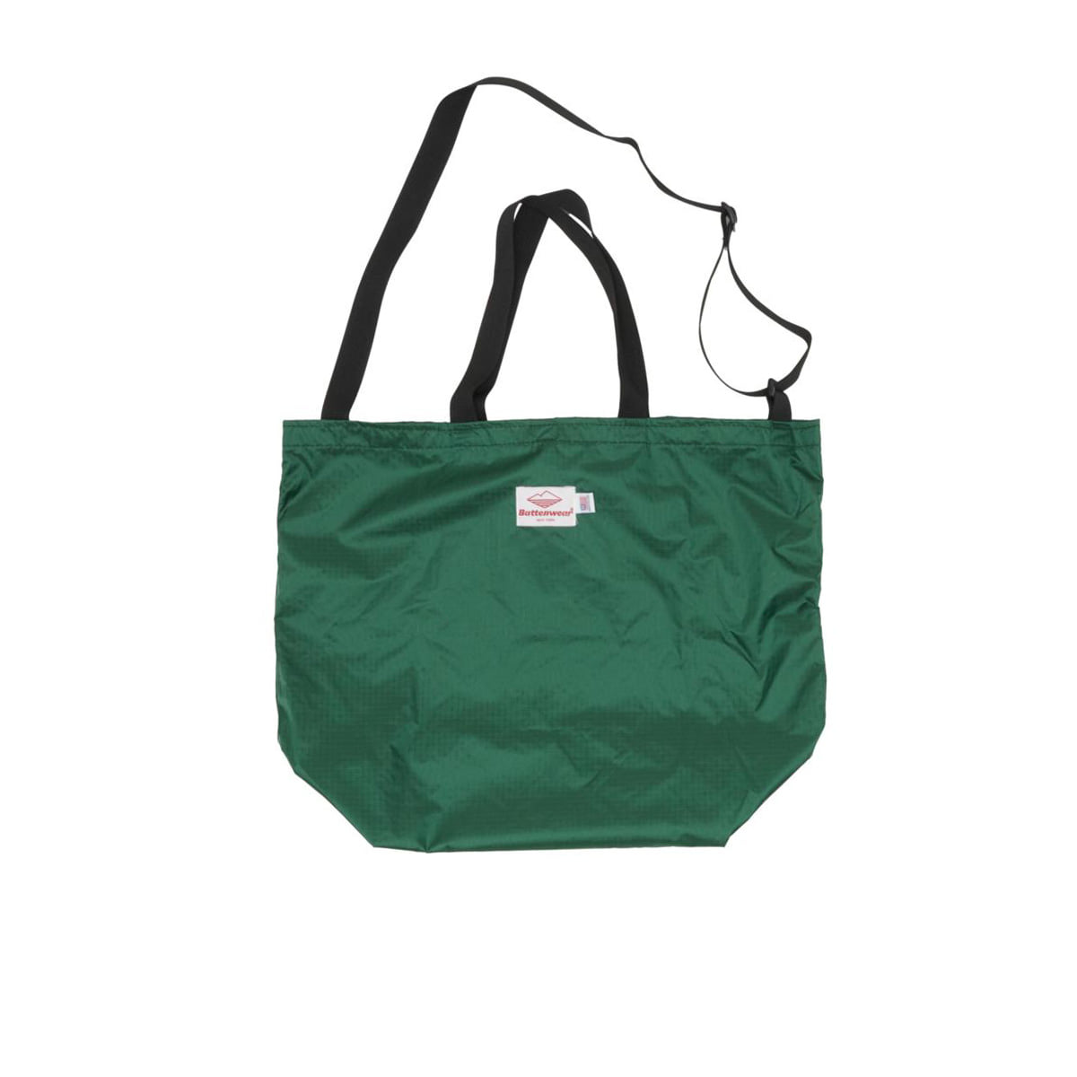 [BATTENWEAR] PACKABLE TOTE 'GREEN/BLACK'