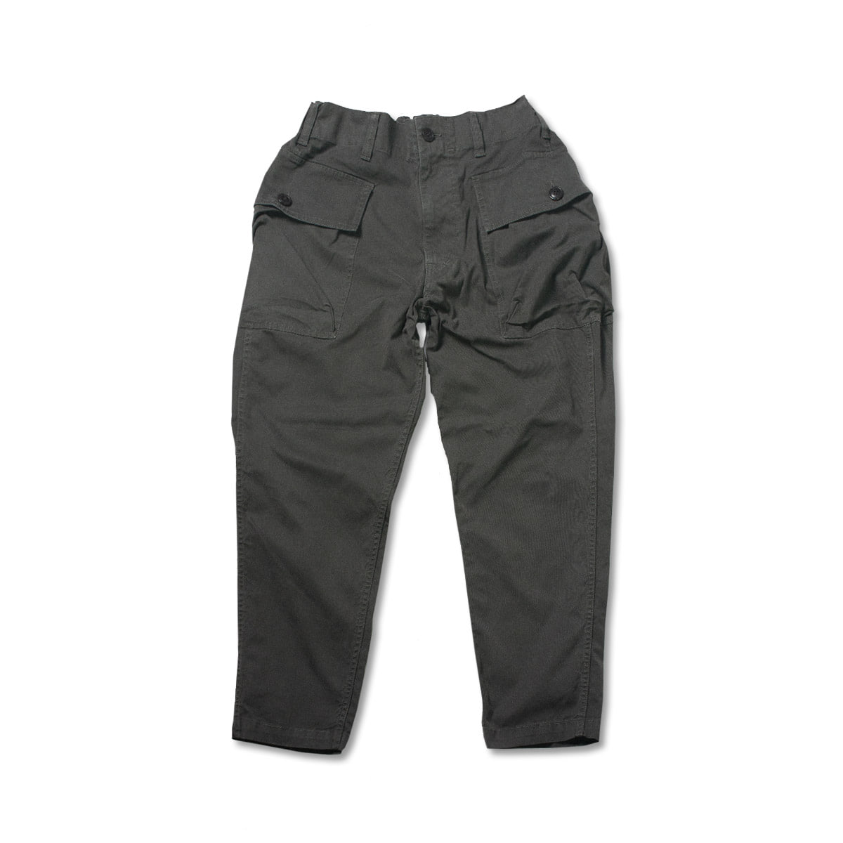 [SAGE DE CRET] TWILL COTTON CARGO PANTS 'CHARCOAL'