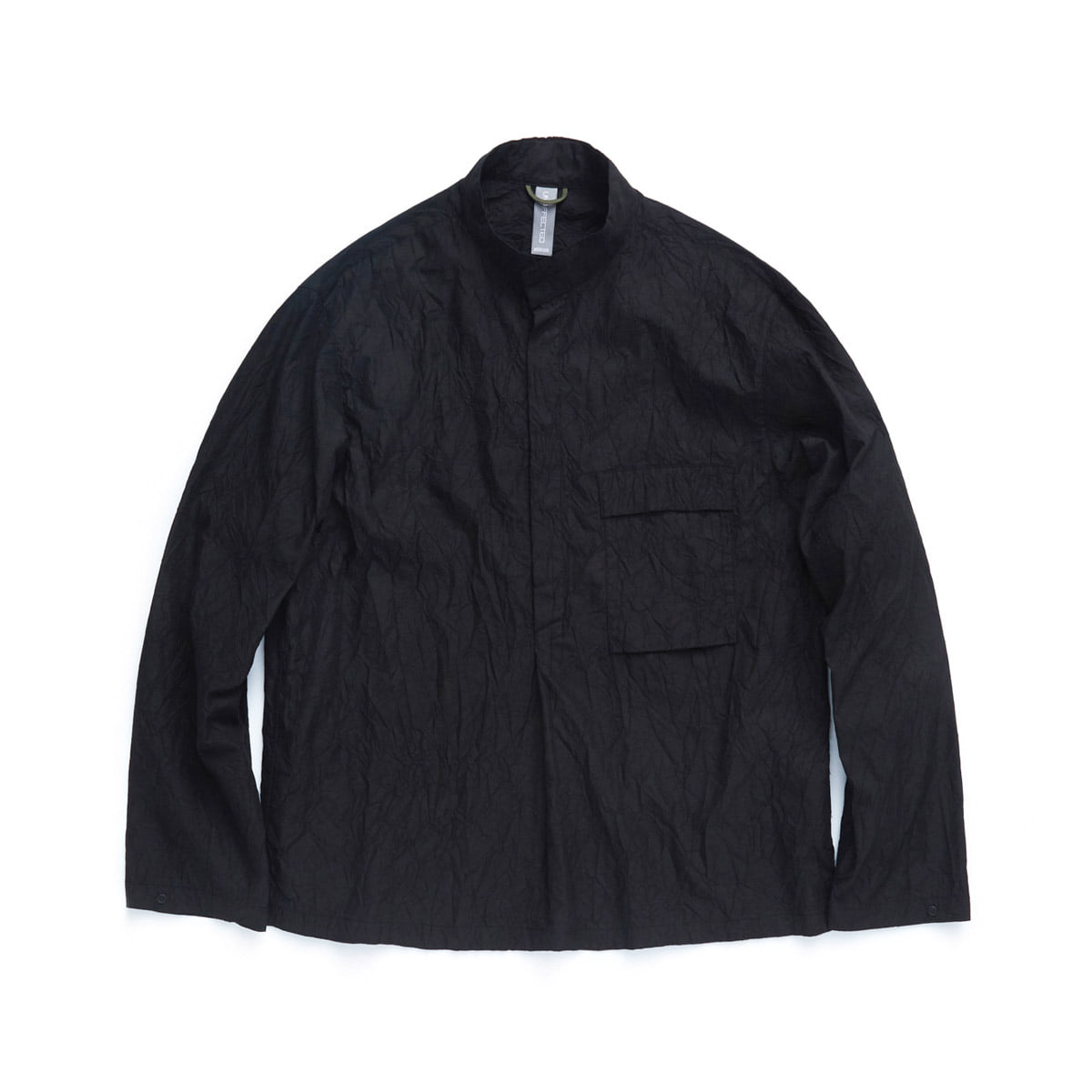 [UNAFFECTED] MOCKNECK SHIRT 'BLACK'
