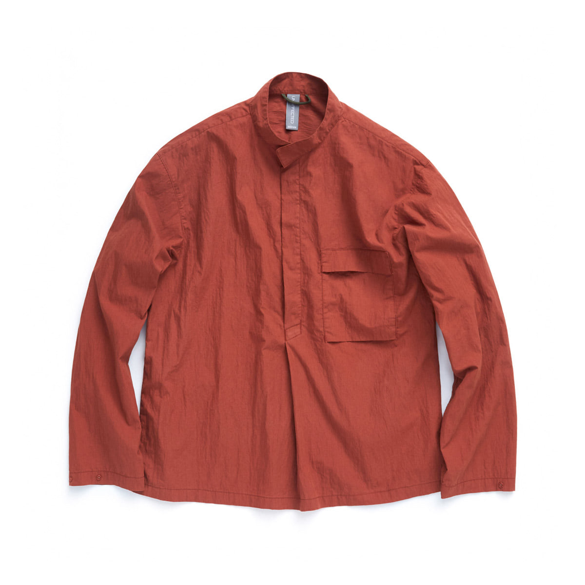 [UNAFFECTED] MOCKNECK SHIRT 'BURNT ORANGE'