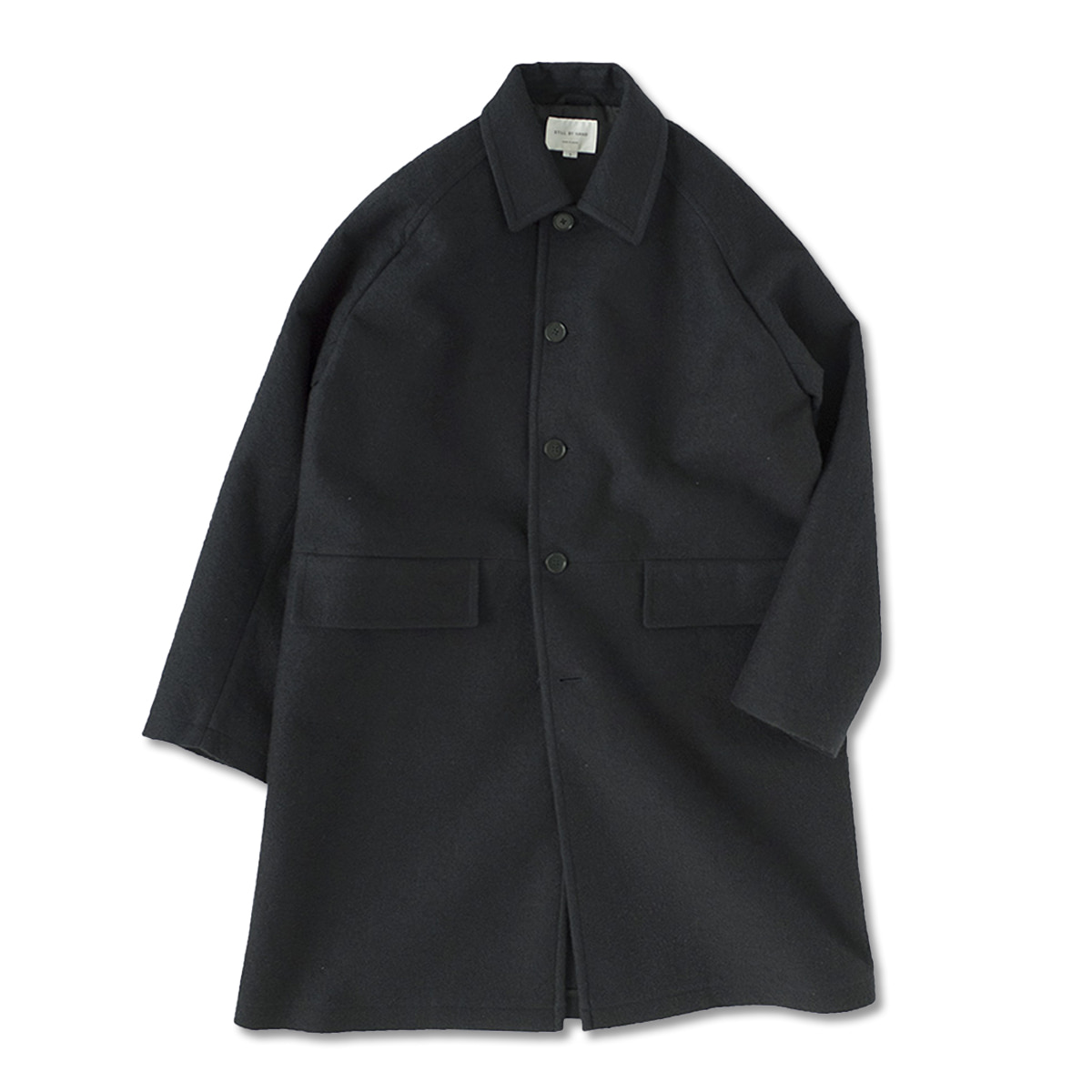 [STILL BY HAND] CO0583 - BONDED BAL COLLAR COAT 'CHARCOAL'