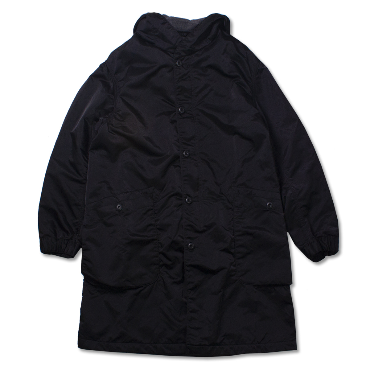 [SAGE DE CRET] NYLON MODS COAT 'BLACK'