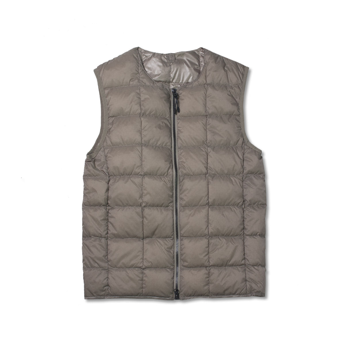 [TAION]  CREW NECK W ZIP DOWN VEST (TAI0N-005) 'KHAKI'