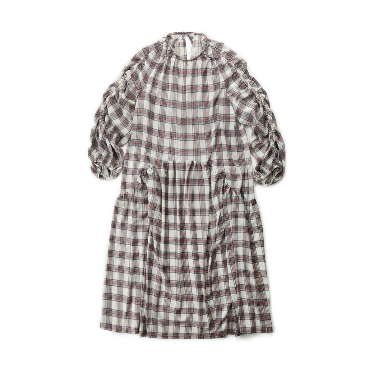 [MUSED] ONIRIQUE LUCING DRESS 'MULTI CHECK'