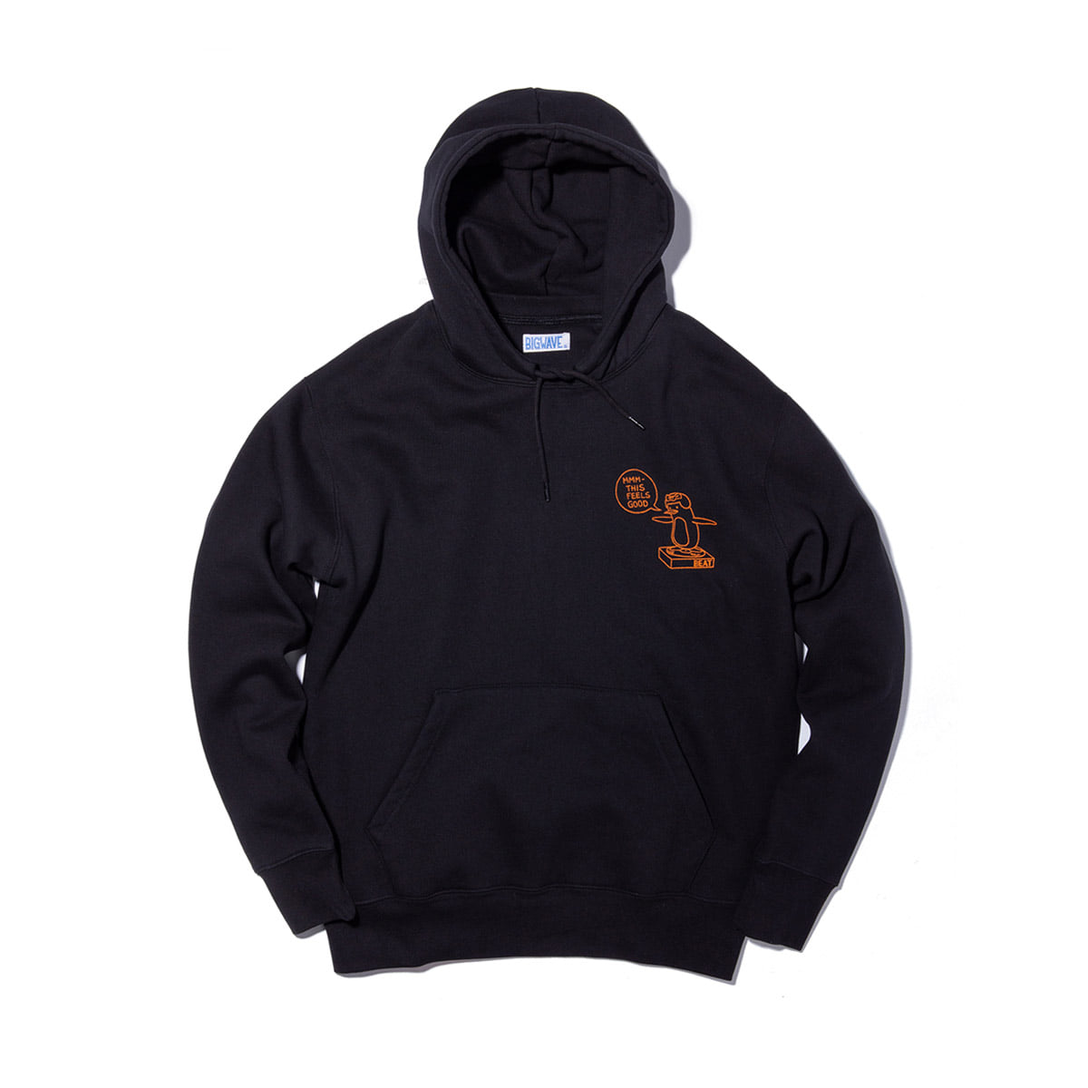[BIG WAVE] BEAT HOODY 'BLACK'