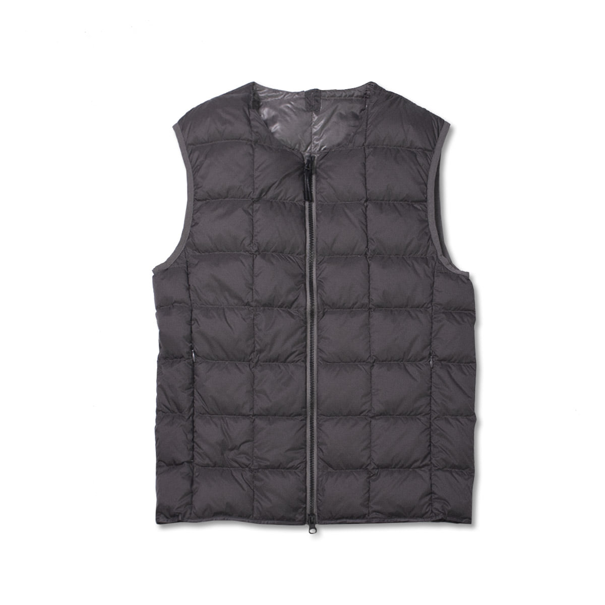 [TAION]  CREW NECK W ZIP DOWN VEST (TAI0N-005) 'GRAY'