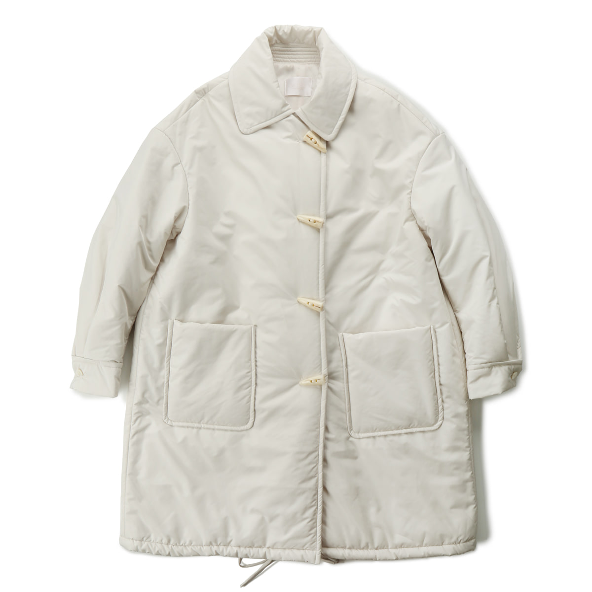 [MUSED] LAVE DE DUFFLE COAT 'IVORY QUILTING'