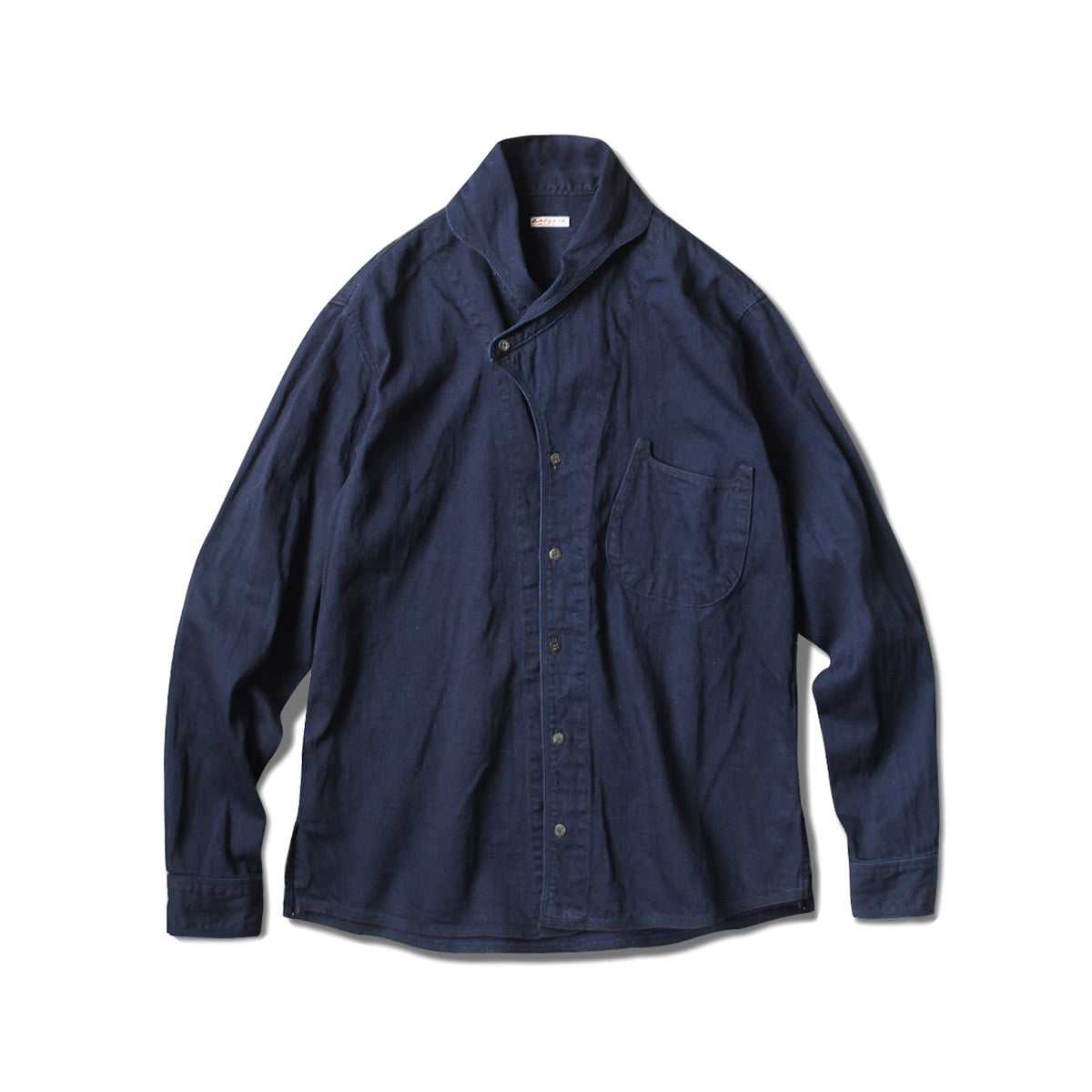 [KAPITAL] 8OZIDG X IDG DENIM DUKE COLLAR SHIRT 'IDG'