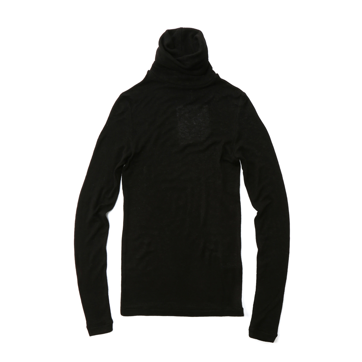 [MUSED] SUBTLE ROLL NECK JERSEY 'BLACK'