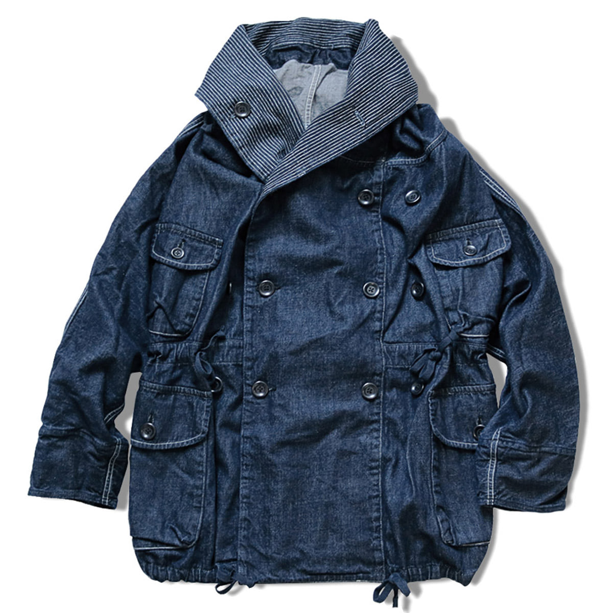 [KAPITAL] 10OZ DENIM RING COAT 'IDG'