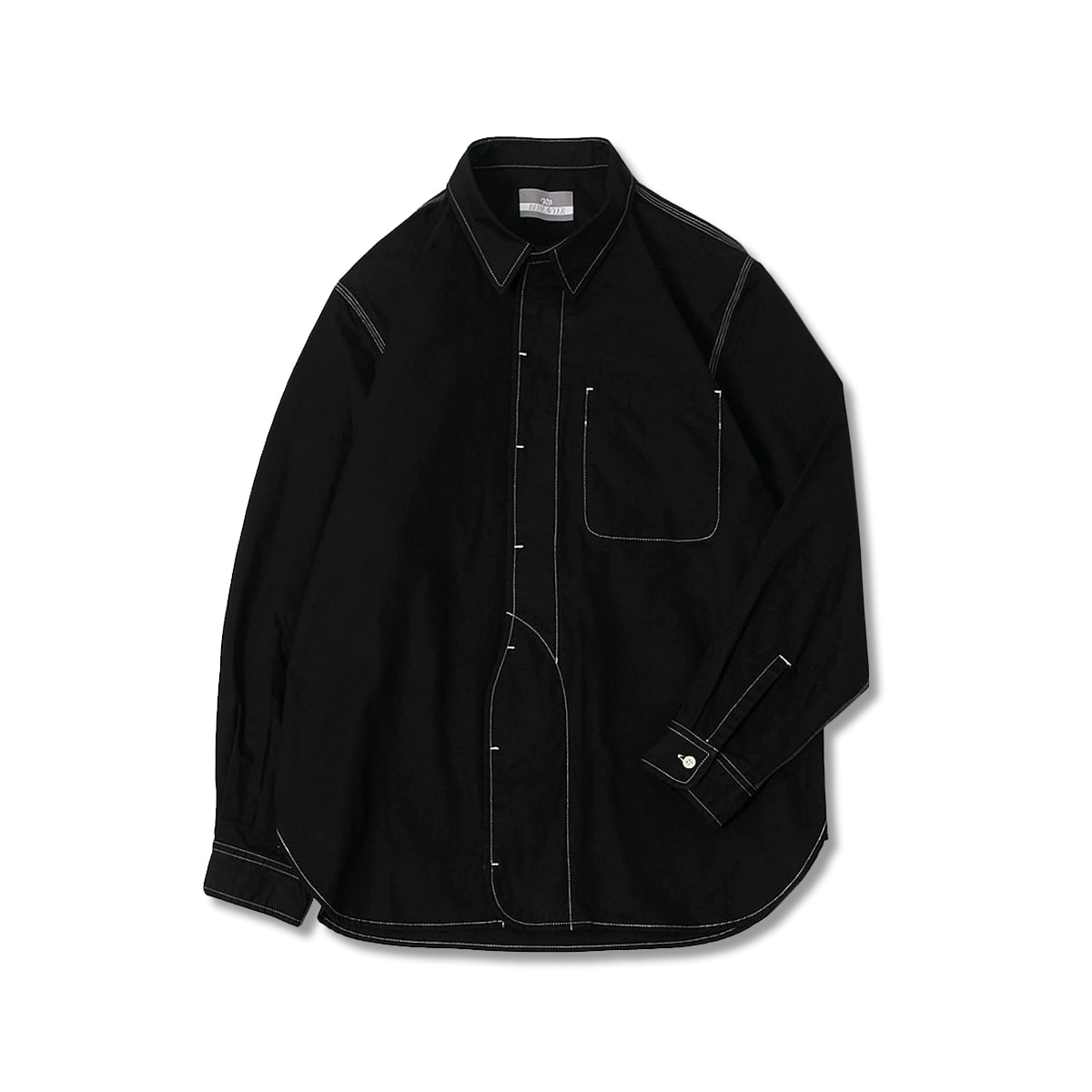 [BEHEAVYER] 1 1/2 SHIRT 'BLACK'
