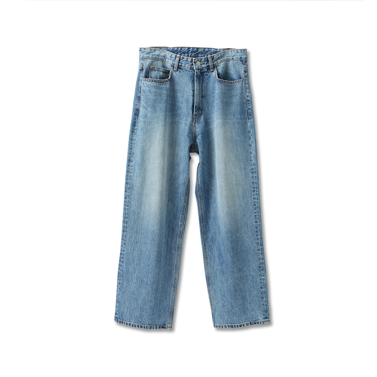 [YOUTH] WIDE DENIM PANTS 'MEDIUM BLUE'