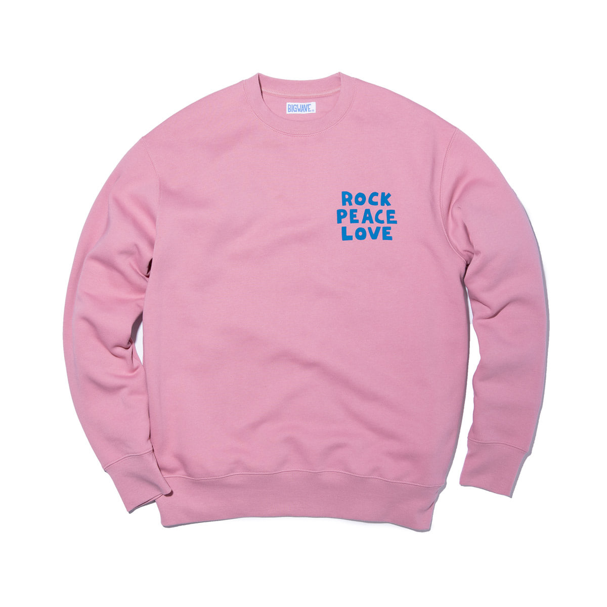 [BIG WAVE] ROCK PEACE LOVE SWEAT 'PINK'