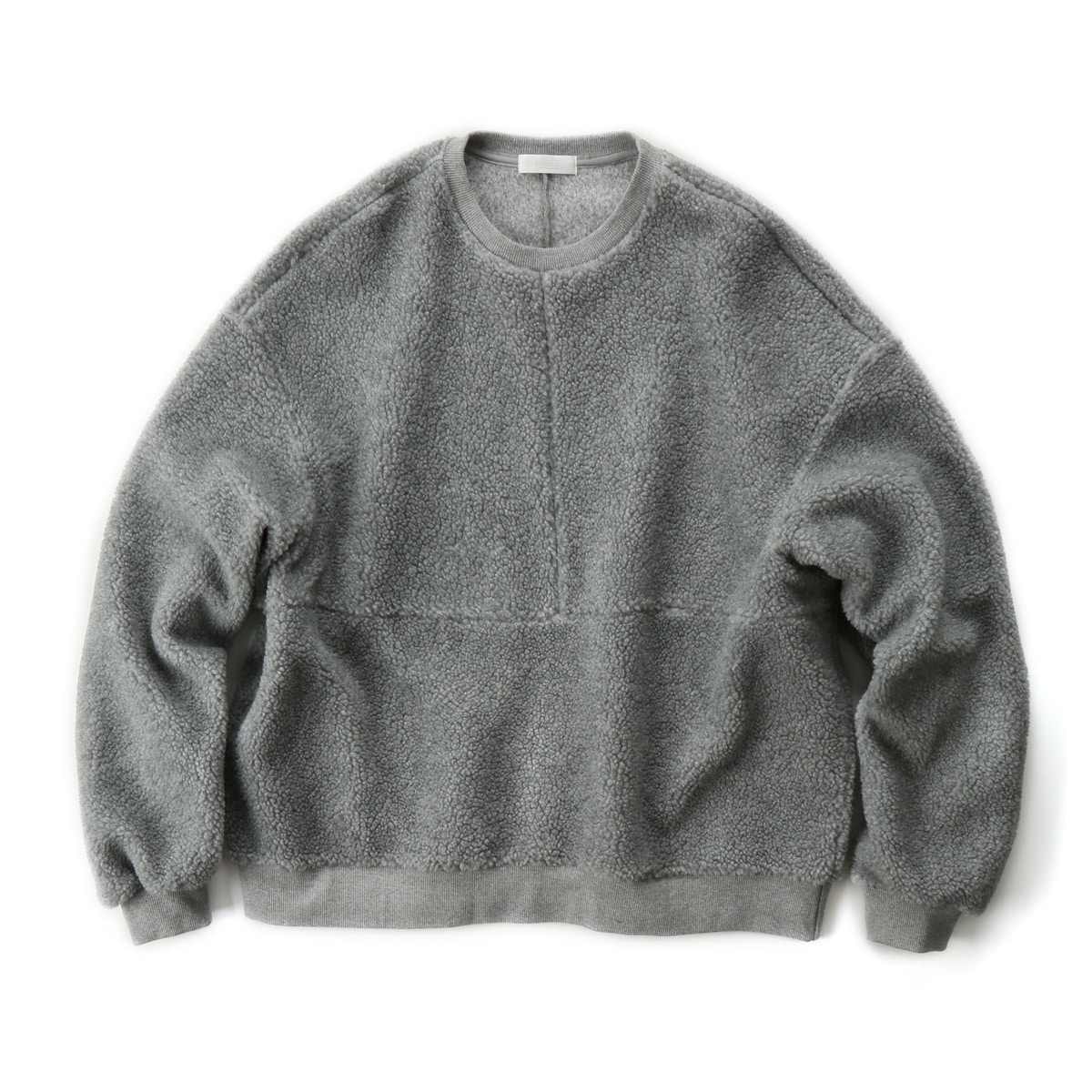 [MUSED] NATAL VEGAN FUR SWEATSHIRT 'GRAY'
