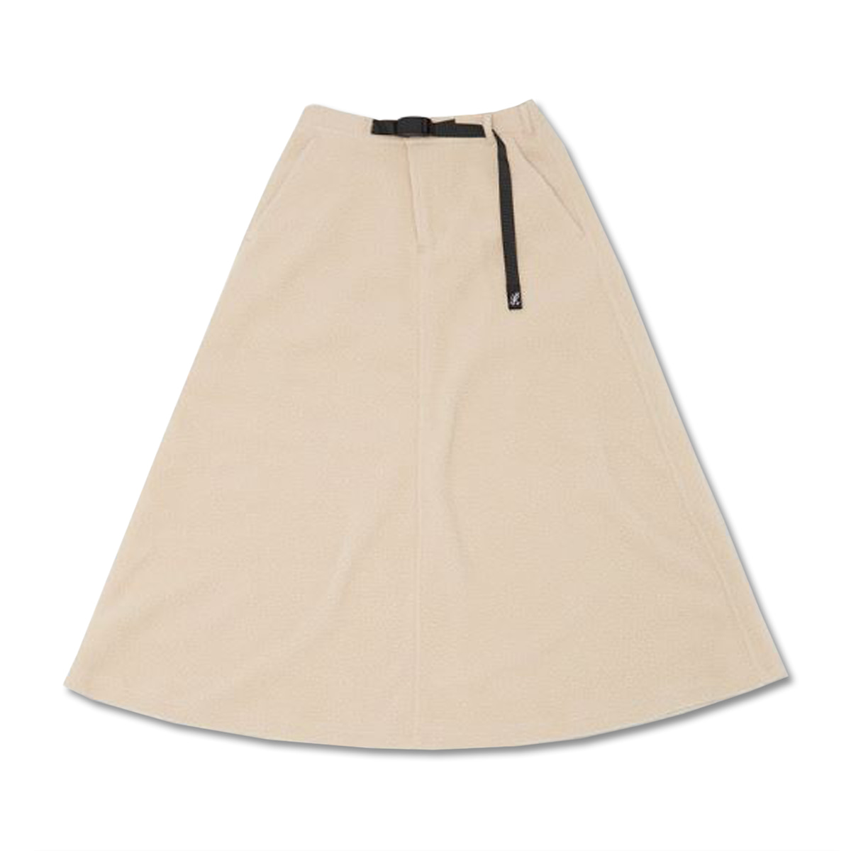 [GRAMICCI] BOA FLEECE LONG FLARE SKIRT 'IVORY'