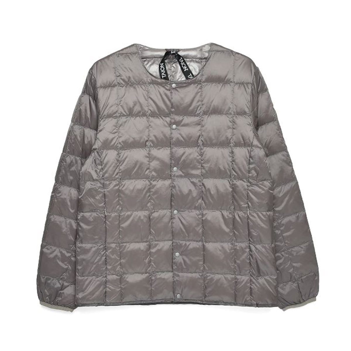 [TAION] CREW NECK BUTTON DOWN JACKET (TAION-104) 'GRAY'