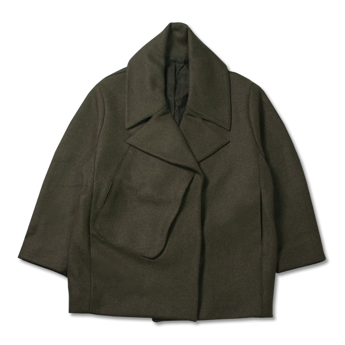 [STUDIO NICHOLSON] OVERSIZED COAT WITH 3D POCKET 'FOREST GREEN'