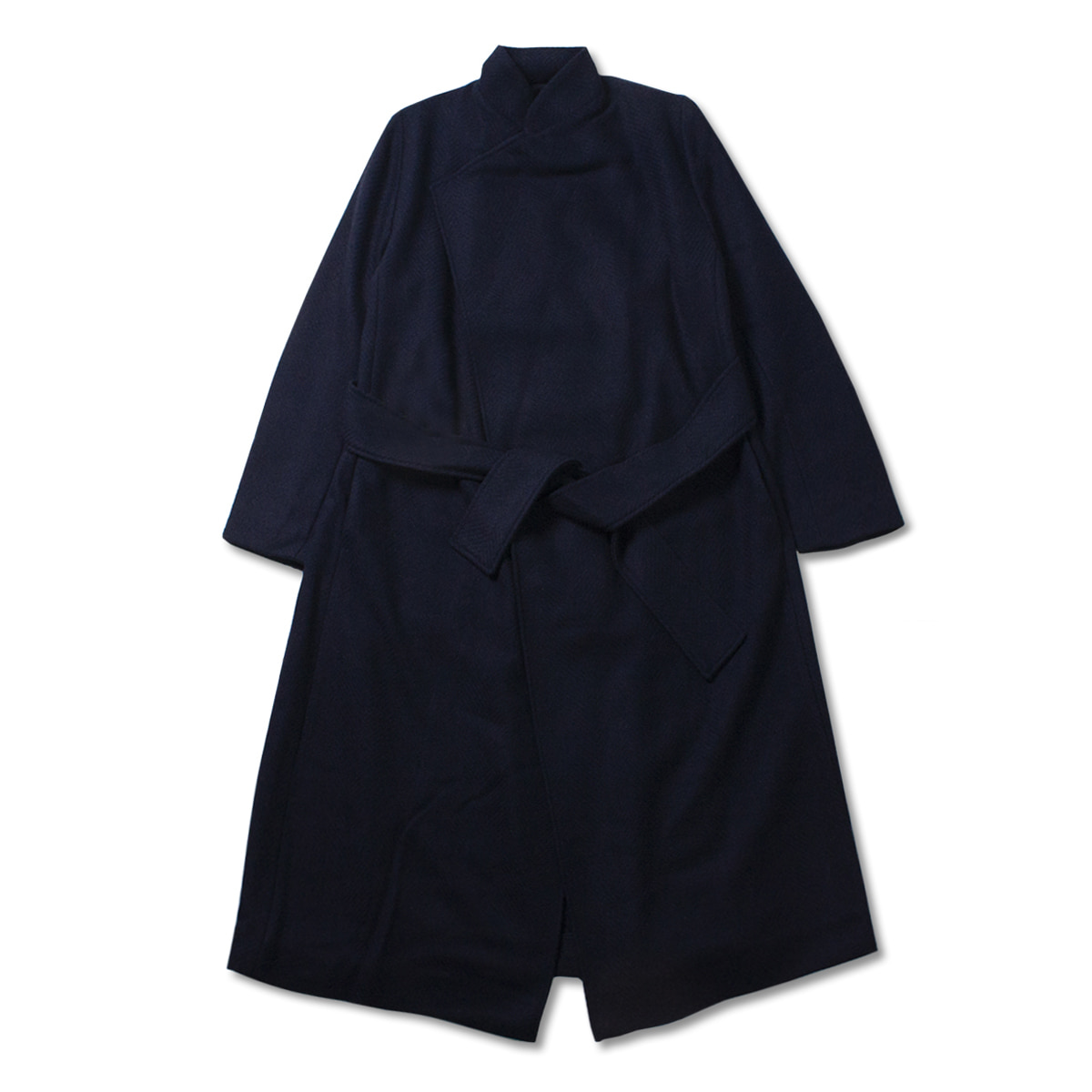 [STUDIO NICHOLSON] DRAPE WRAP COAT 'DARK NAVY'