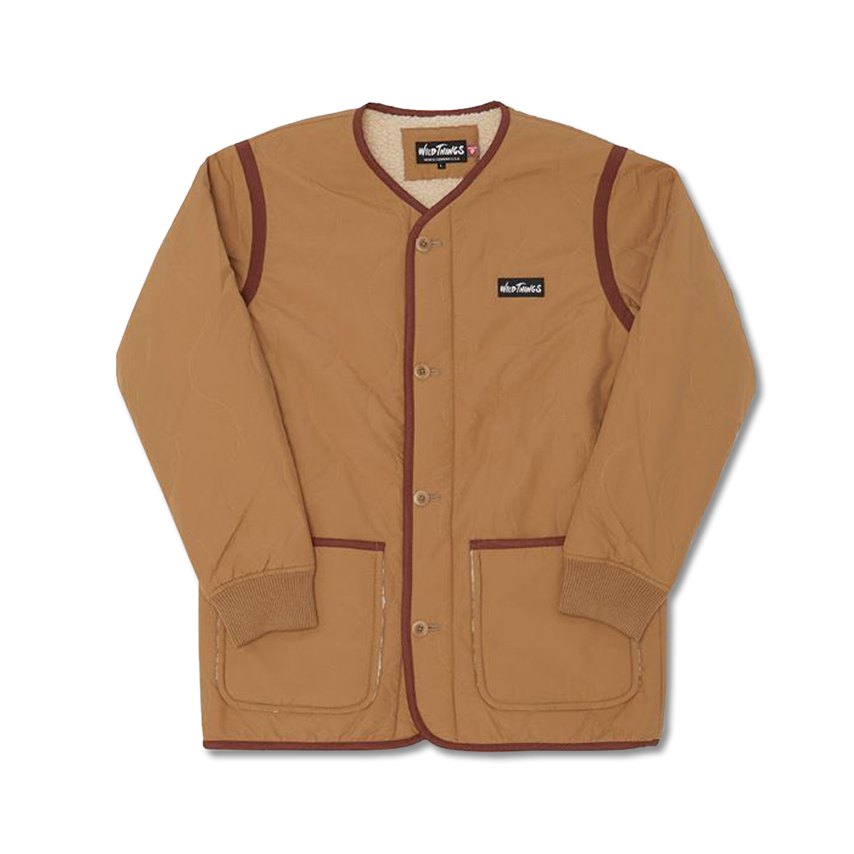 [WILD THINGS] BOA LINER JACKET 'CAMEL'