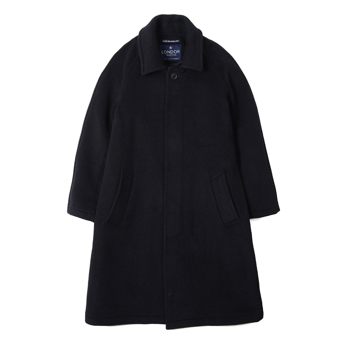 [LONDON TRADITION] MENS R06 FLY FRONT COAT 'NAVY SSB'