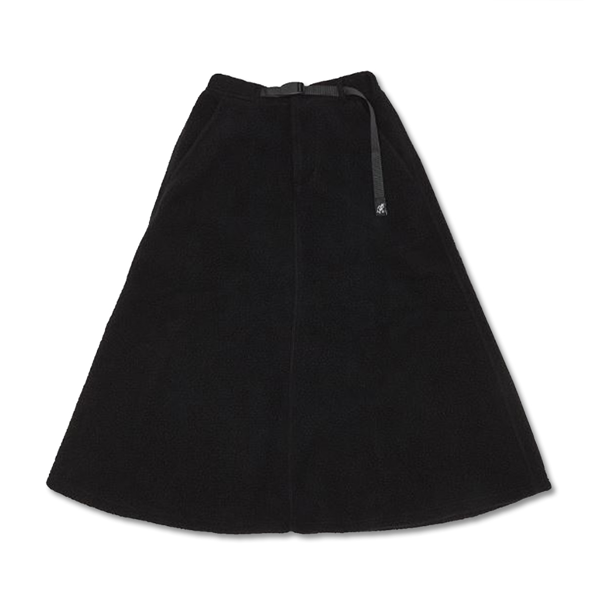 [GRAMICCI] BOA FLEECE LONG FLARE SKIRT 'BLACK'