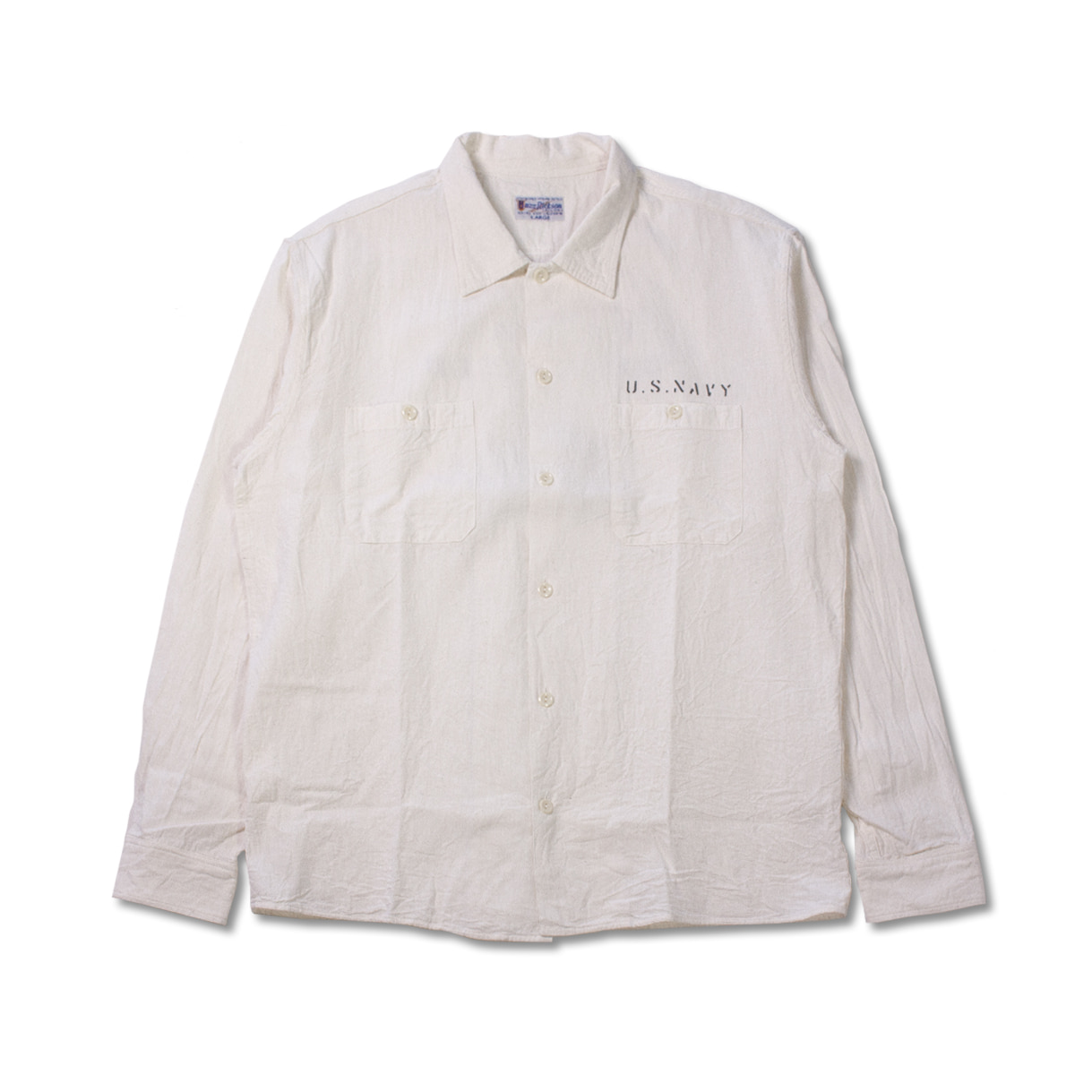 [BUZZ RICKSON'S] MILITARY WORK STENCIL SHIRT 'OFF-WHITE'