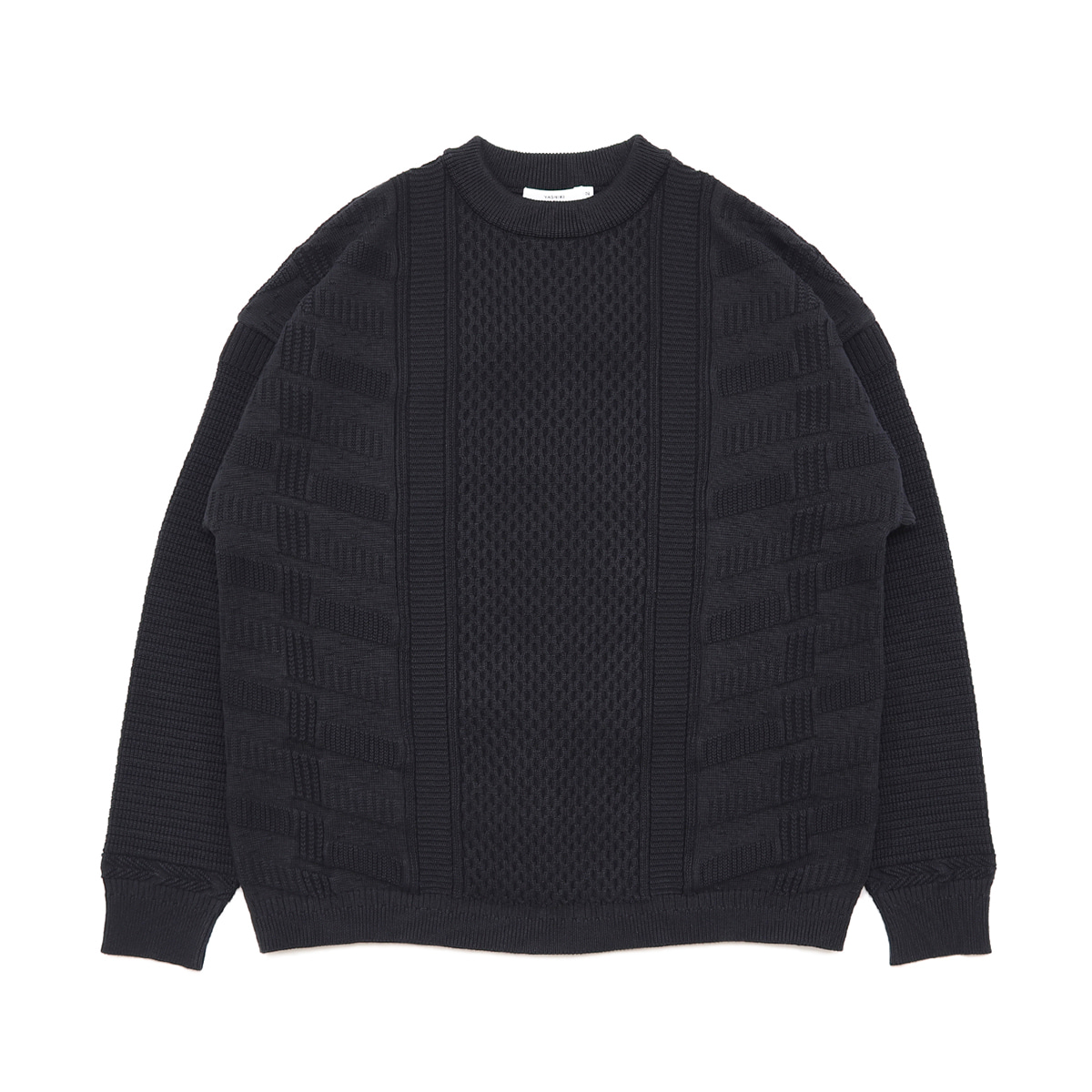 [YASHIKI] ARARE KNIT 'BLACK'