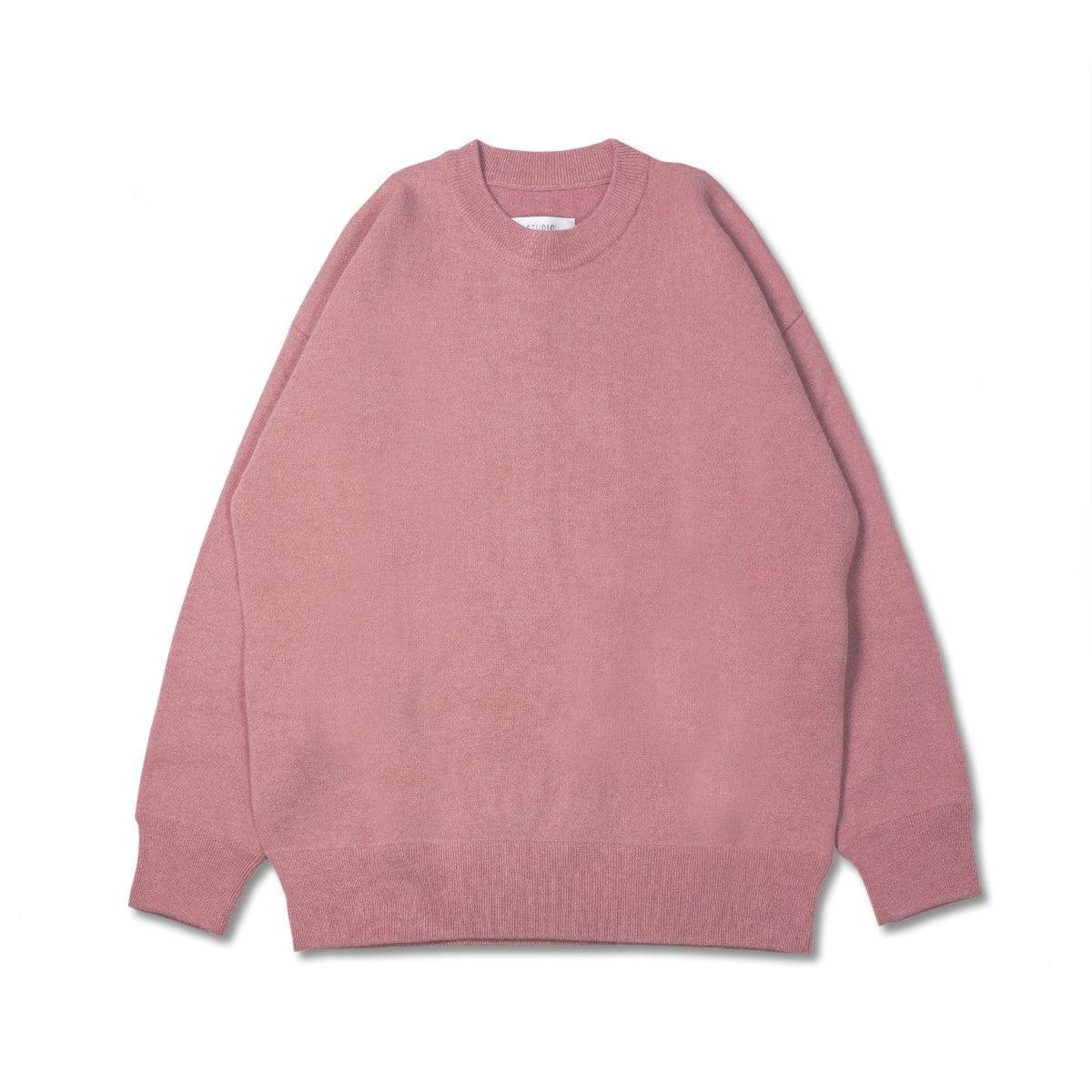 [STUDIO NICHOLSON] DOUBLE FACED WOOL KNITED SWEATSHIRT 'PURTY PINK'
