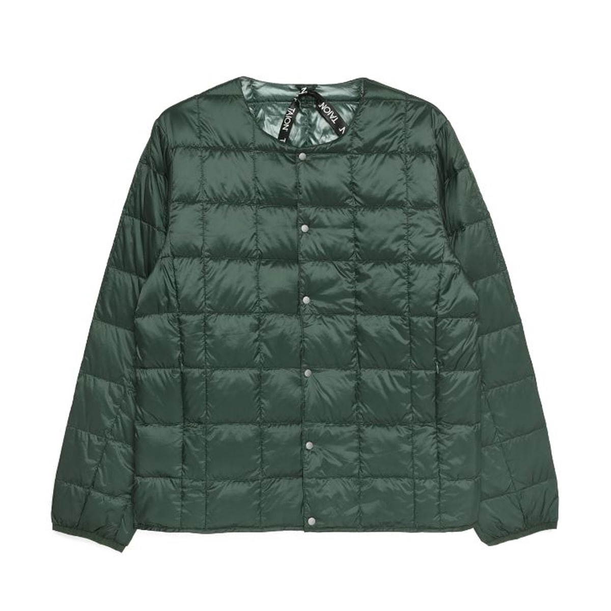 [TAION] CREW NECK BUTTON DOWN JACKET (TAION-104) 'GREEN'