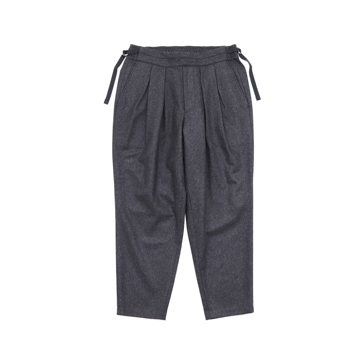 [SAYATOMO] KARUSAN FLANNEL PANTS 'BLACK'