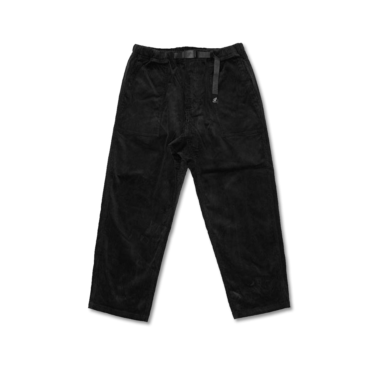 [GRAMICCI] CORDUROY LOOSE TAPERED PANTS 'BLACK'