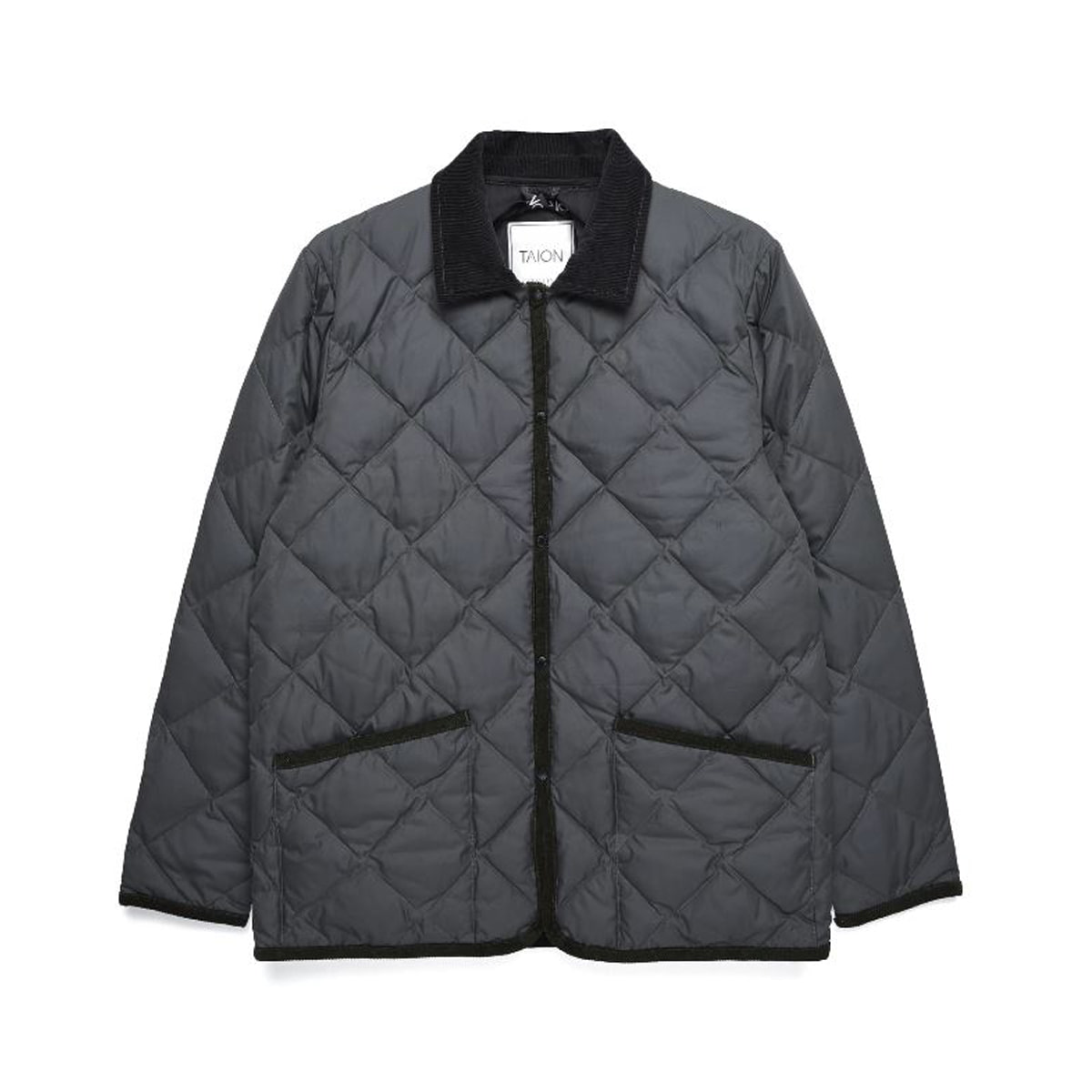 [TAION] PIPING COLLARED DOWN JACKET (TAION-109CI) 'GRAY'