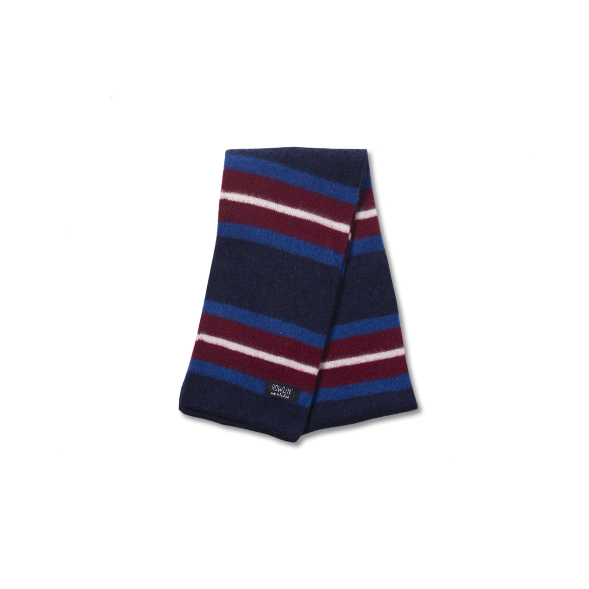 [HOWLIN] COLLEGE CAN BE FUN SCARF 'NAVY'
