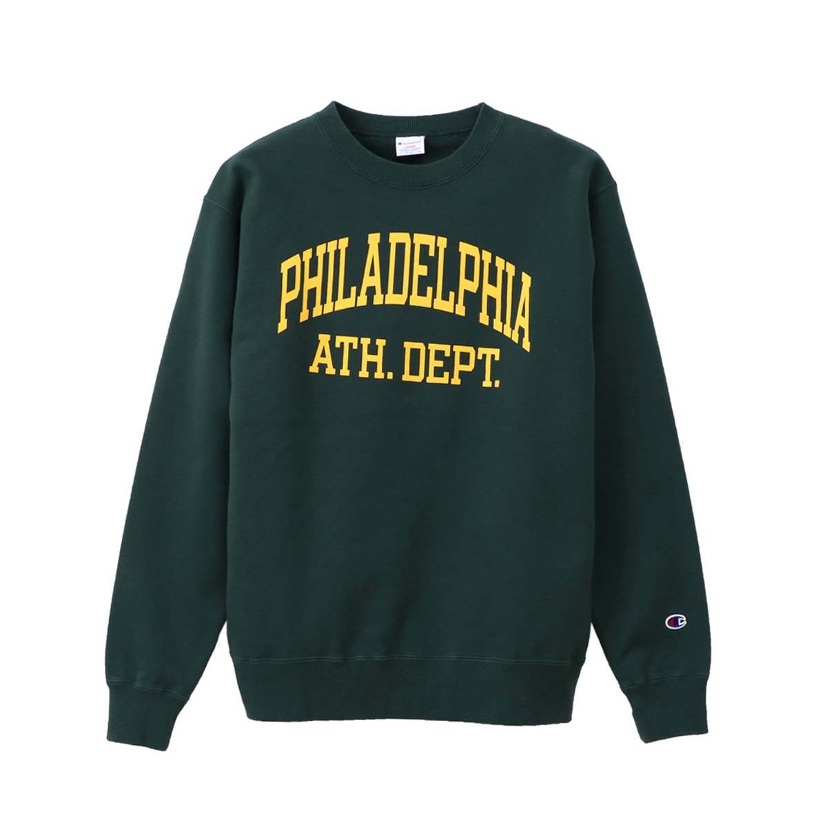 [CHAMPION] CREW NECK SWEAT SHIRT (C3-Q026) 'MOSS GREEN'