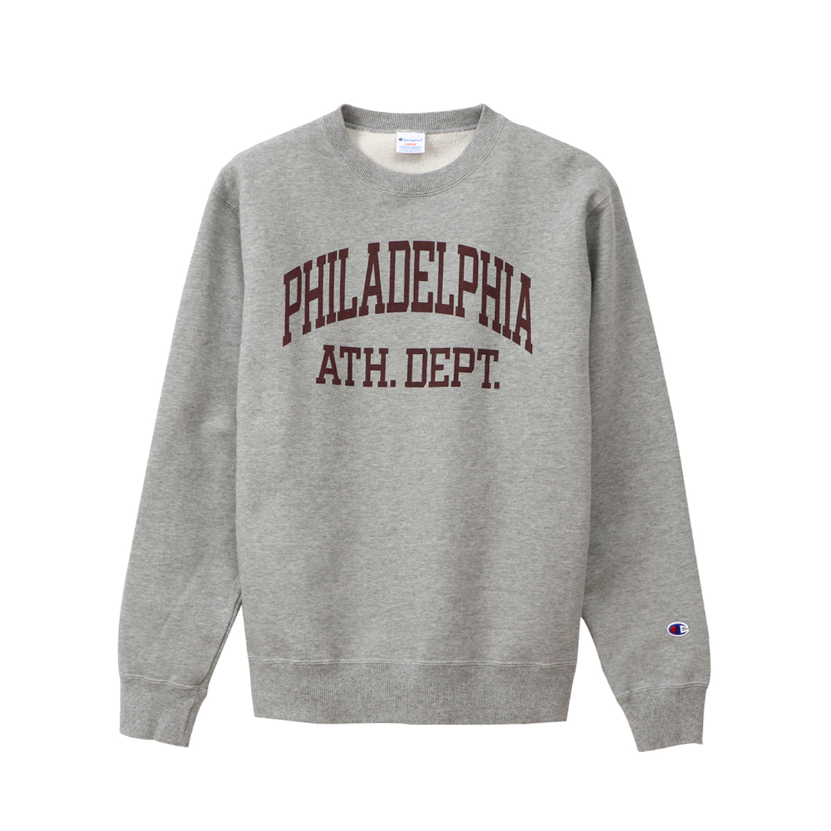 [CHAMPION] CREW NECK SWEAT SHIRT (C3-Q026) 'OXFORD GRAY'