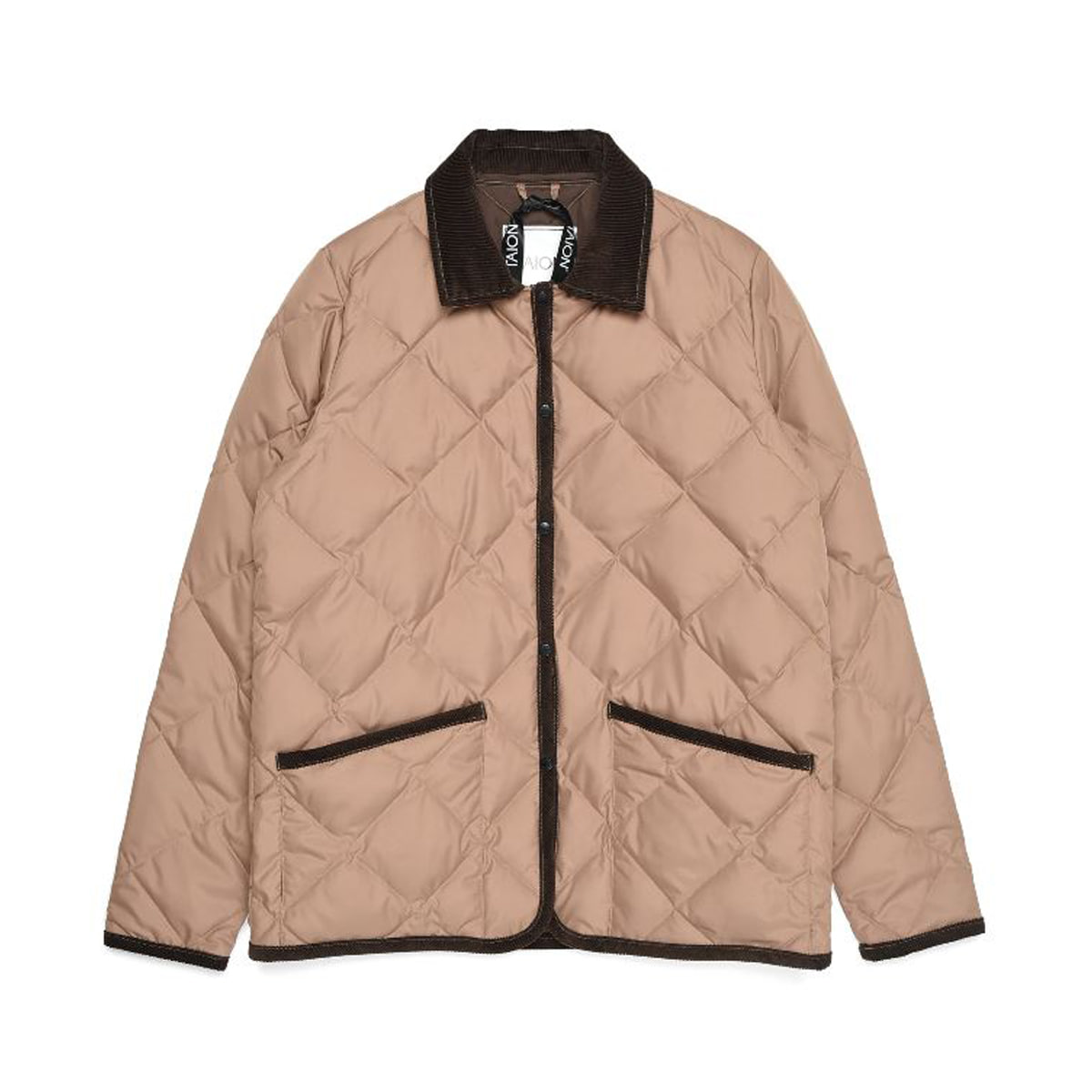 [TAION] PIPING COLLARED DOWN JACKET (TAION-109CI) 'BEIGE'