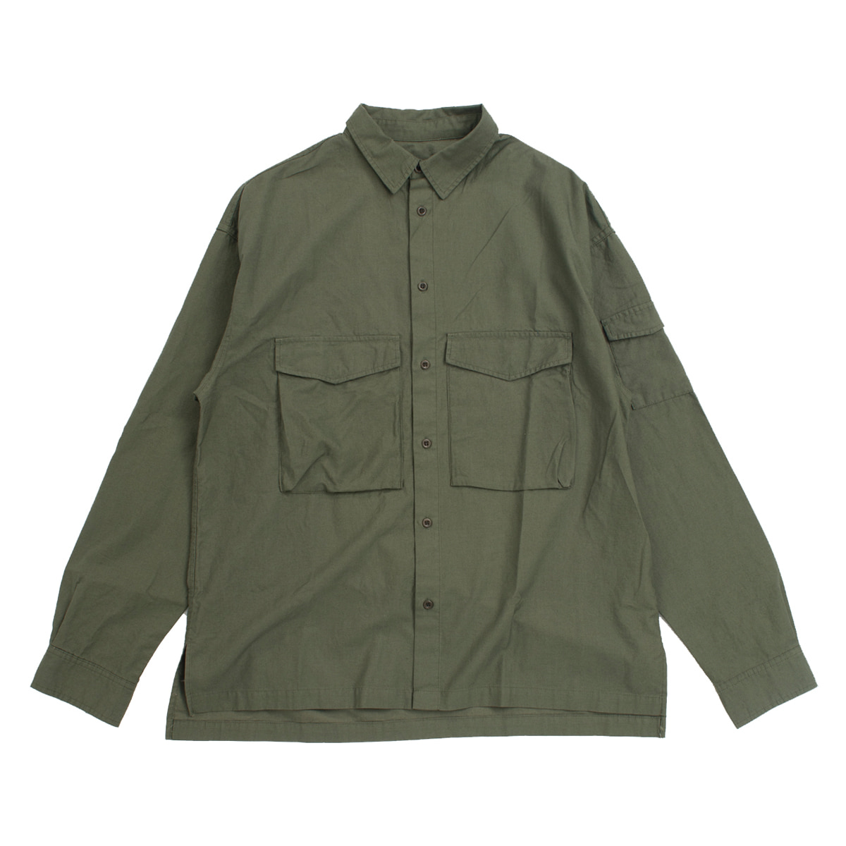 [8DIVISION] UTILITY SHIRT 'OLIVE'