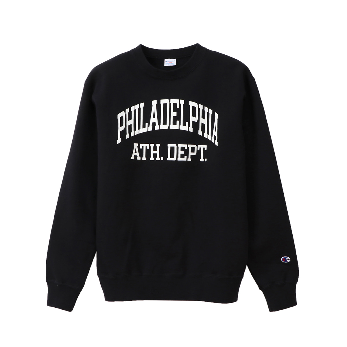 [CHAMPION] CREW NECK SWEAT SHIRT (C3-Q026) 'BLACK'
