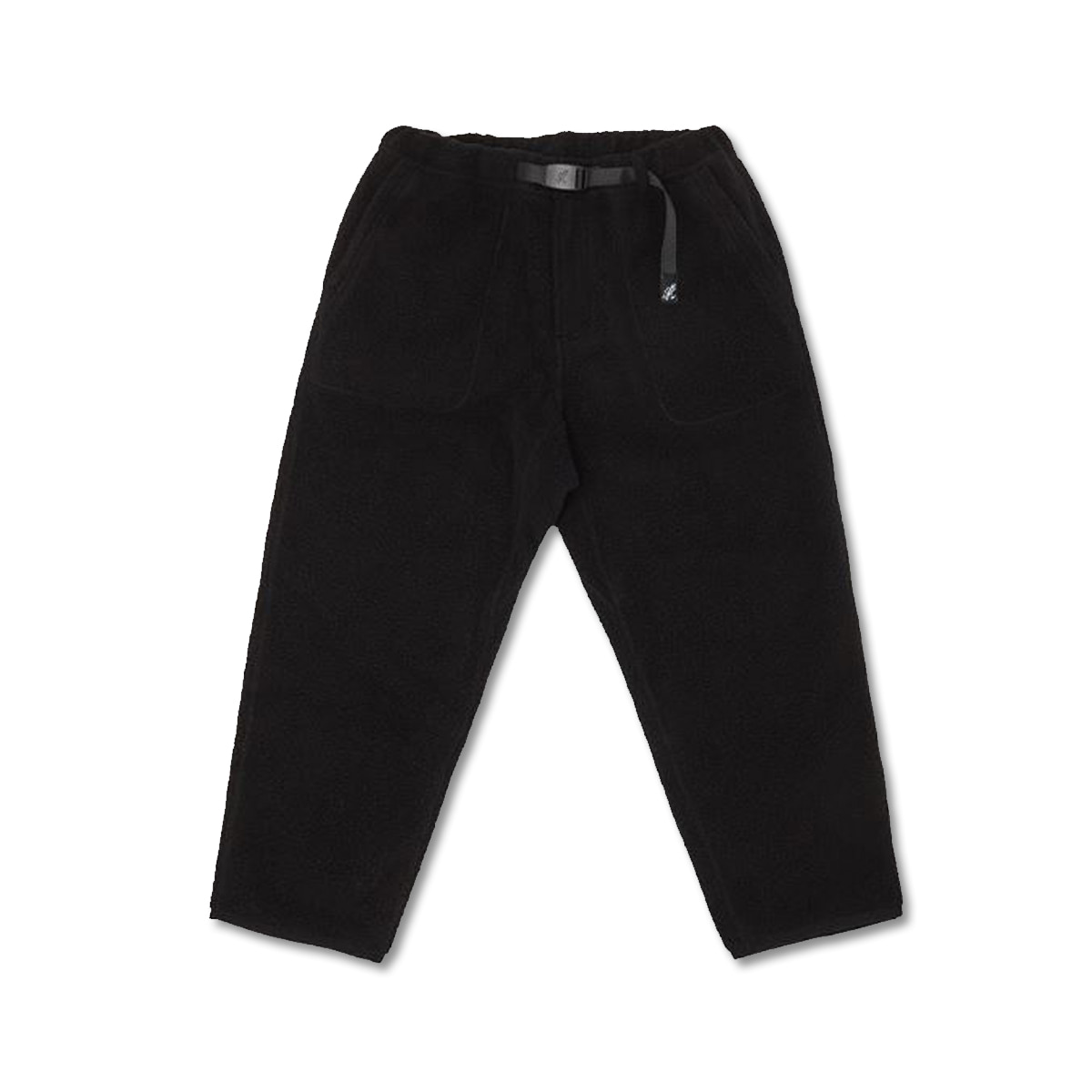 [GRAMICCI] BOA FLEECE LOOSE TAPERED PANTS 'BLACK'