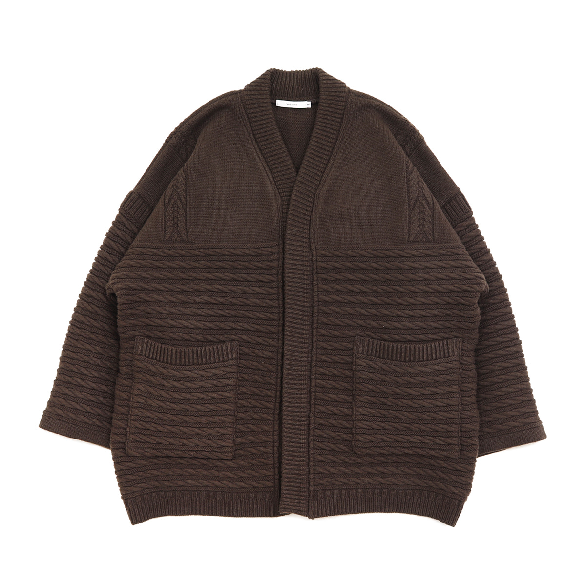 [YASHIKI] MINORI HANTEN KNIT 'BROWN'