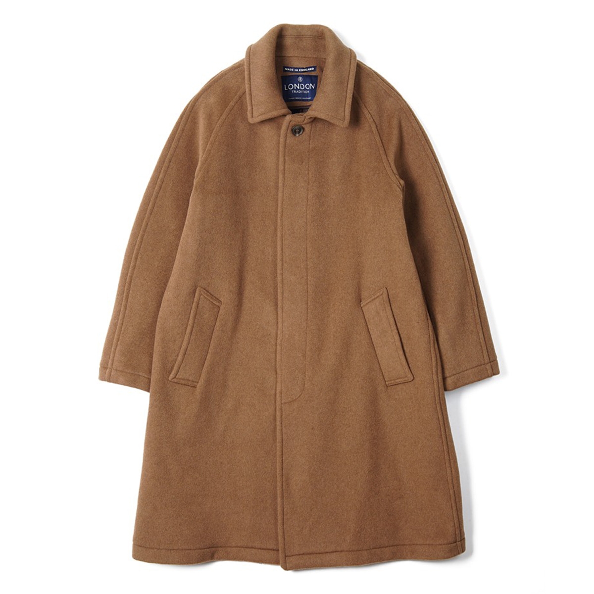 [LONDON TRADITION] MENS R06 FLY FRONT COAT 'NEW VICUNA'