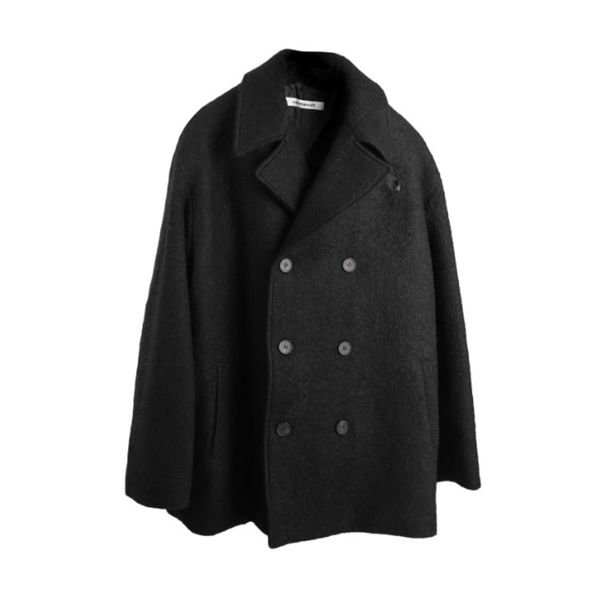 [BIRTHDAYSUIT] OVER FIT DOUBLE COAT 'BLACK'