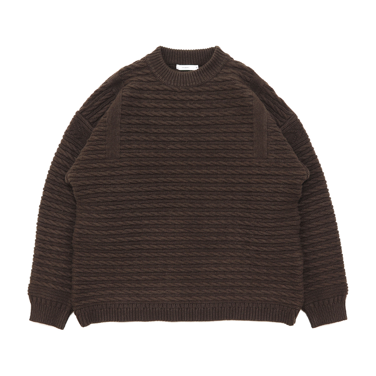 [YASHIKI] WARANAWA KNIT 'BROWN'