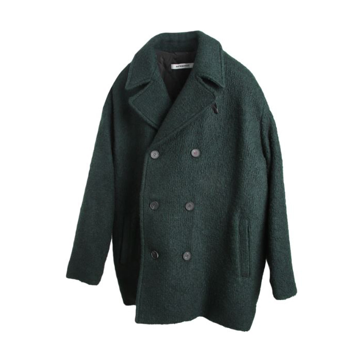 [BIRTHDAYSUIT] OVER FIT DOUBLE COAT 'GREEN'
